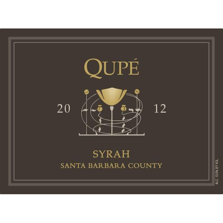 Qupe Santa Barbara County Syrah 2012 Front Label
