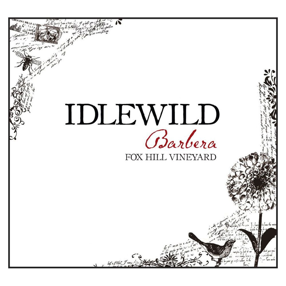 Idlewild Fox Hill Barbera 2013 Front Label