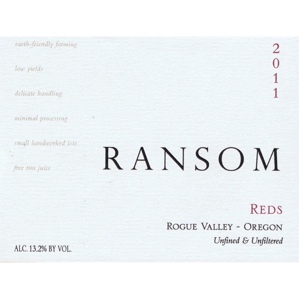 Ransom Reds 2011 Front Label