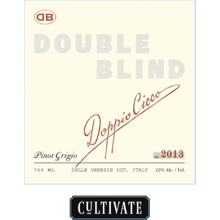 Cultivate Double Blind Pinot Grigio 2013 Front Label
