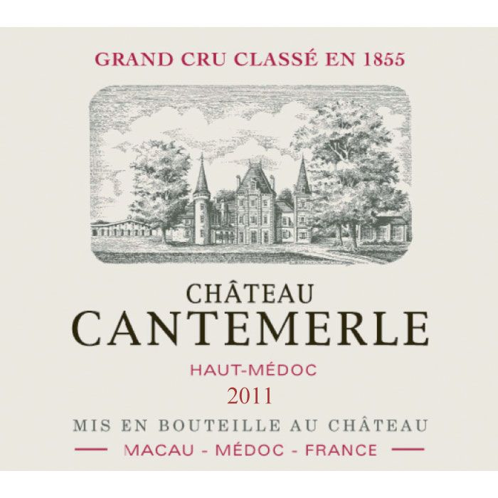 Chateau Cantemerle  2011 Front Label