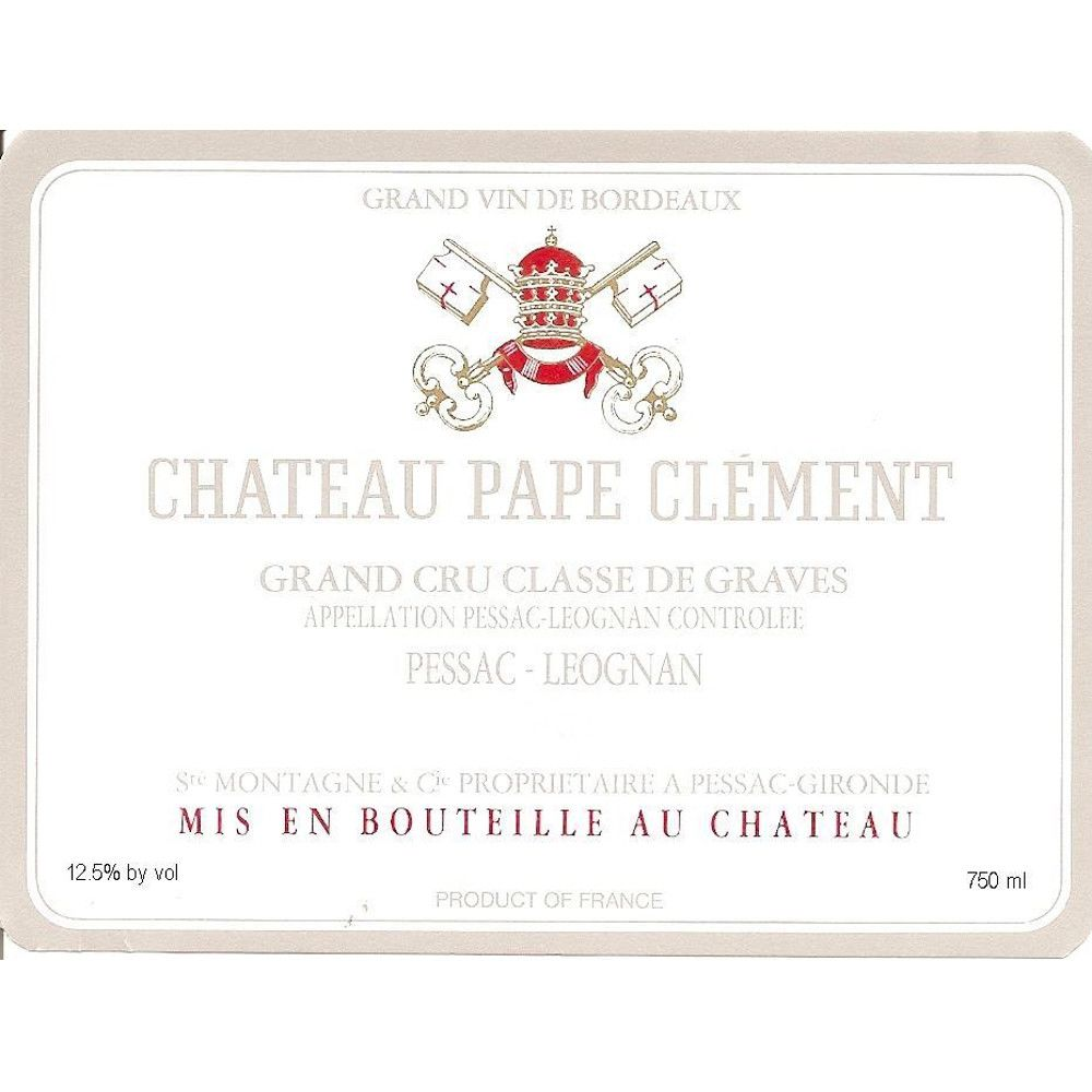 Chateau Pape Clement  1990 Front Label