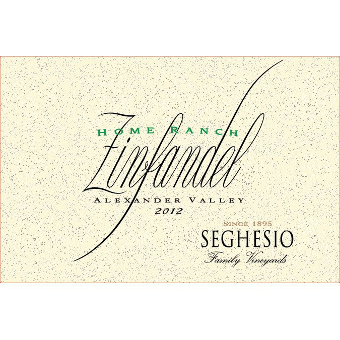 Seghesio Home Ranch Zinfandel 2012 Front Label