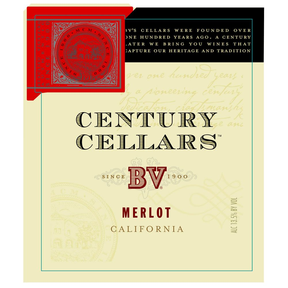 Century Cellars Merlot 2013 Front Label