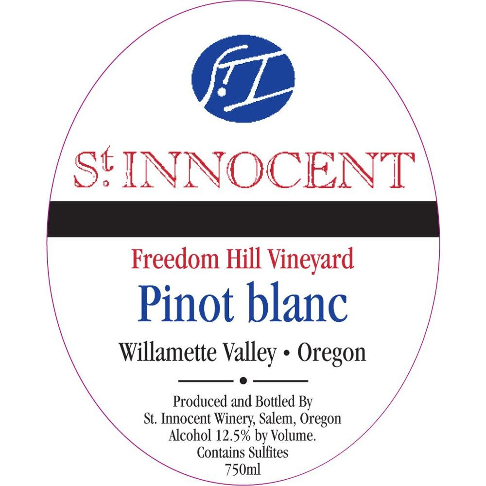 St. Innocent Freedom Hill Pinot Blanc 2013 Front Label