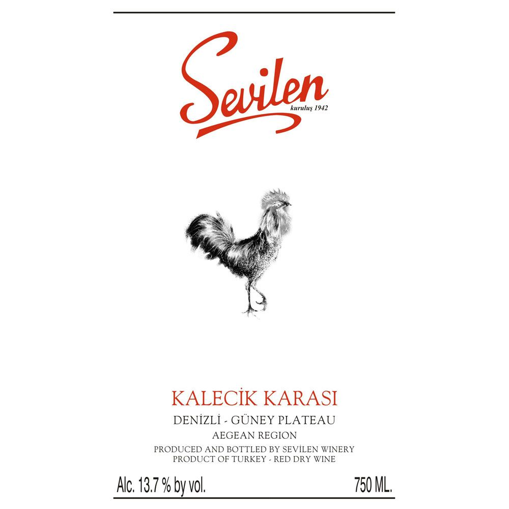 Sevilen Kalecik Karasi Red 2012 Front Label