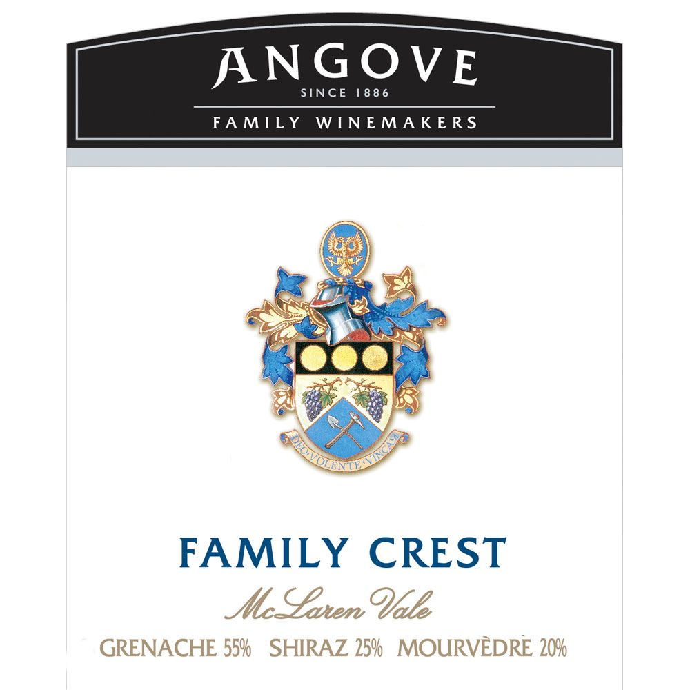 Angove Family Winemakers Family Crest Grenache Shiraz Mourvedre 2014 Front Label