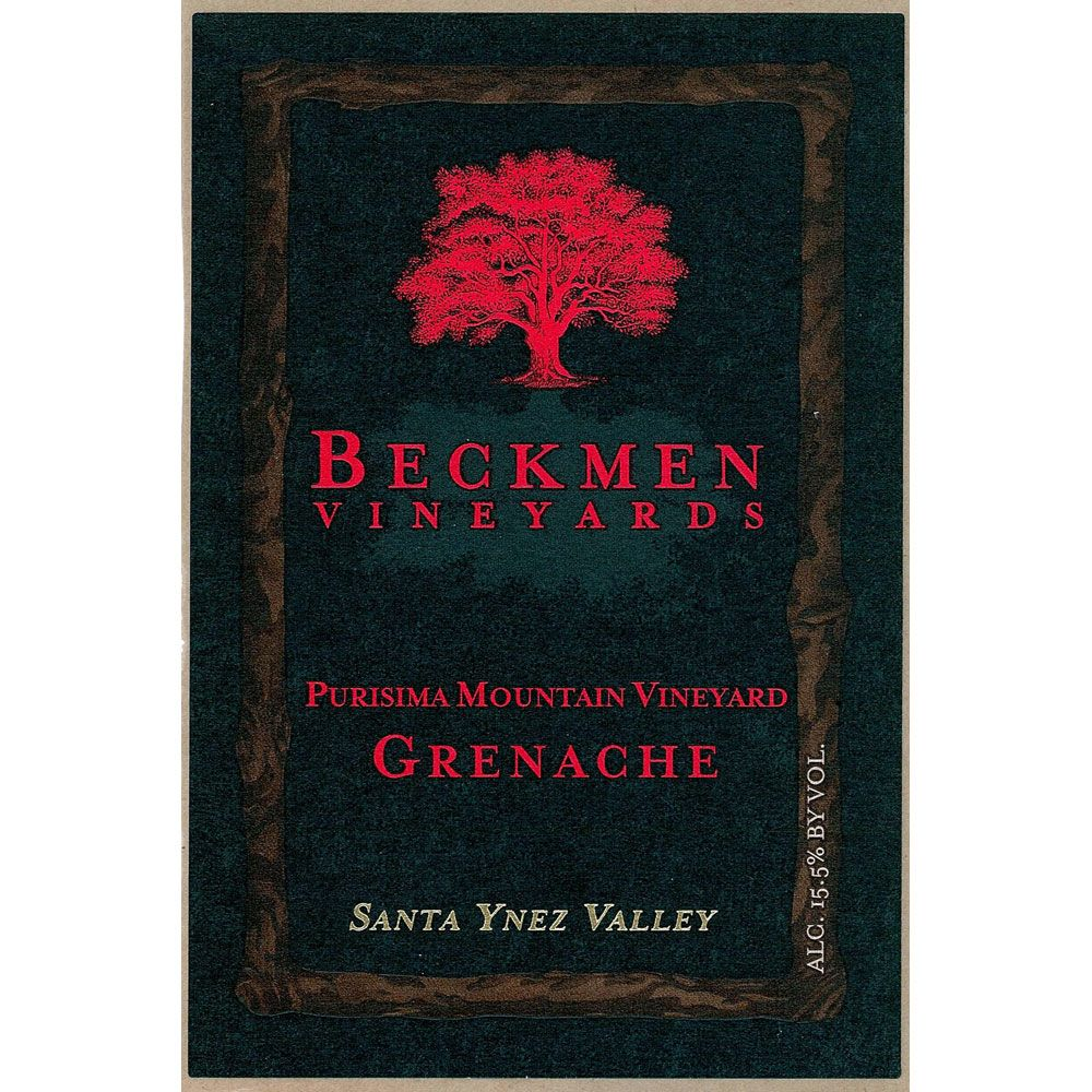 Beckmen Purisima Mountain Vineyard Grenache 2010 Front Label