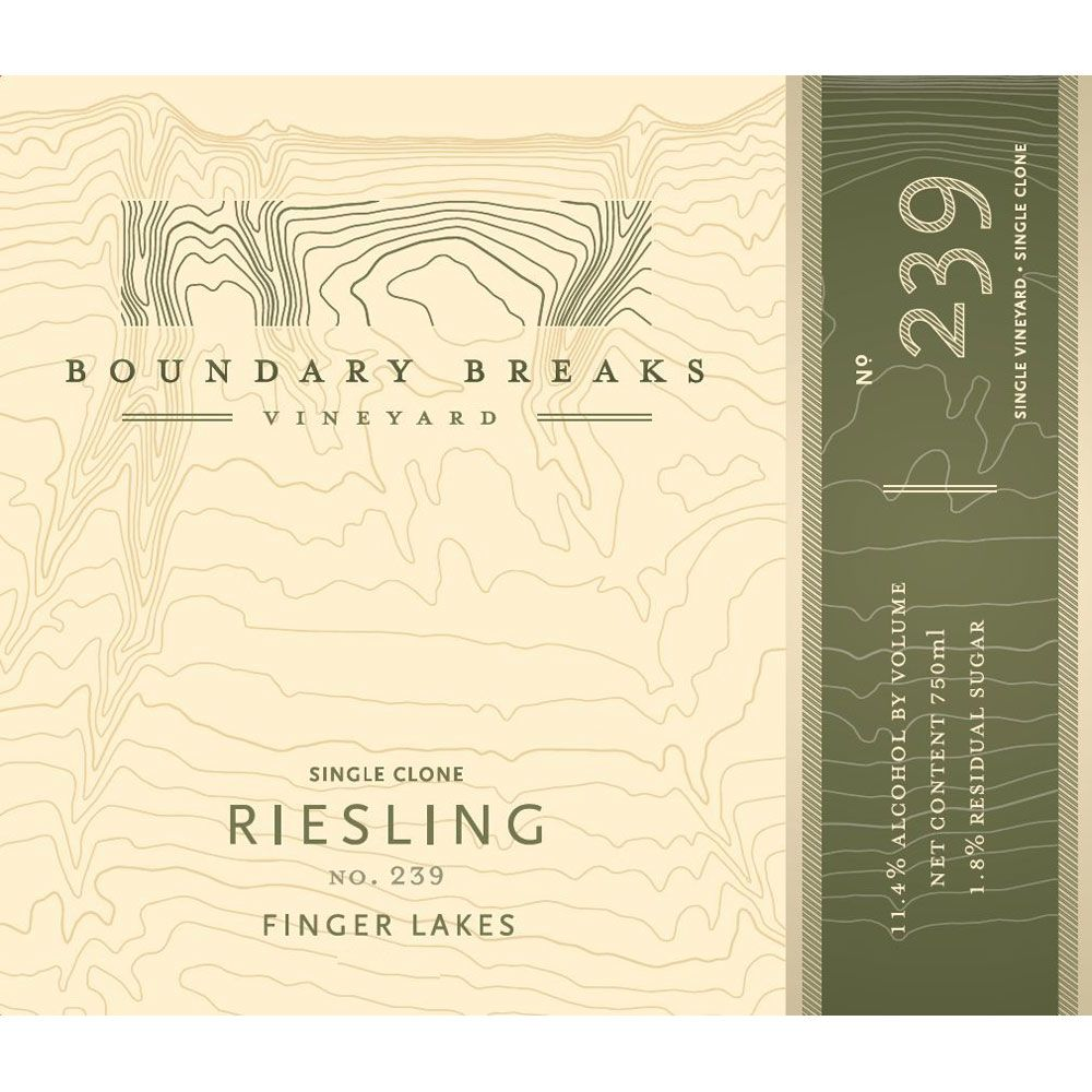 Boundary Breaks No.239 Riesling 2013 Front Label