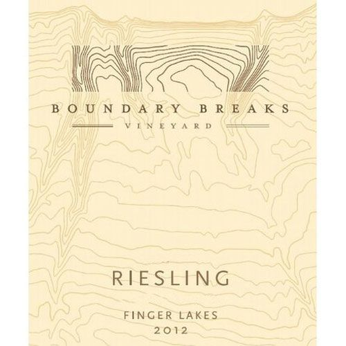 Boundary Breaks Late Harvest No. 90 Riesling (375ML half-bottle) 2012 Front Label