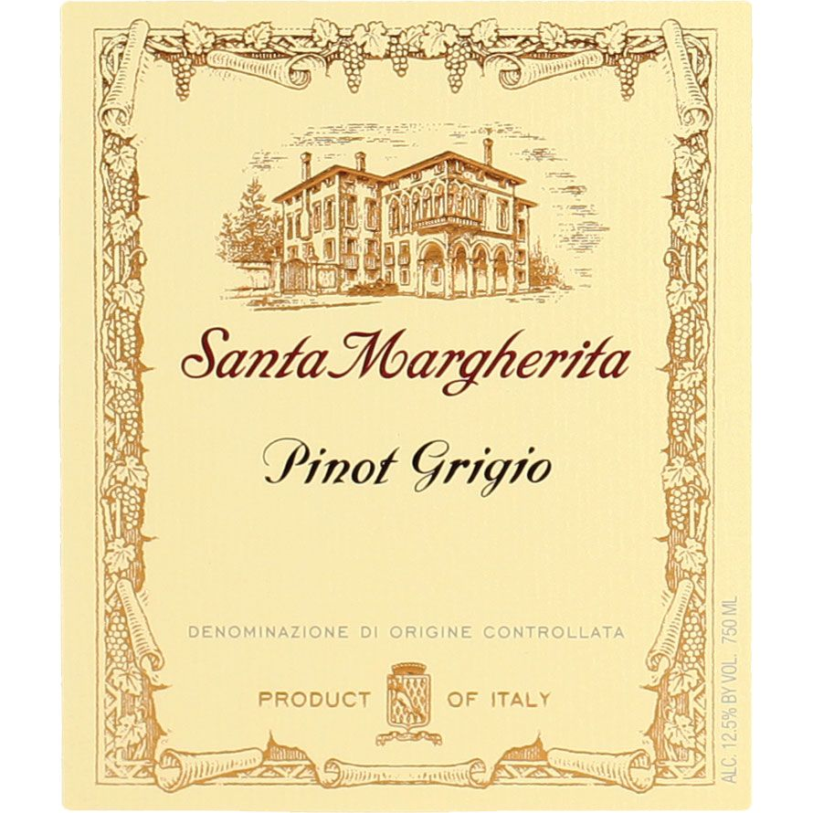 Santa Margherita Pinot Grigio (375ML half-bottle) 2014 Front Label
