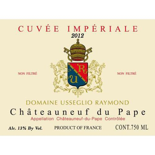 Domaine Raymond Usseglio Chateauneuf-du-Pape Cuvee Imperiale 2012 Front Label