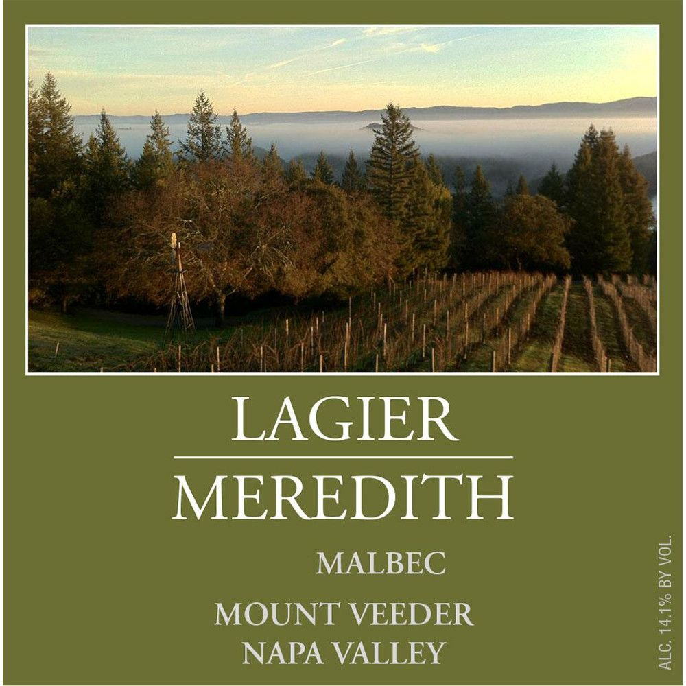 Lagier Meredith Malbec 2012 Front Label