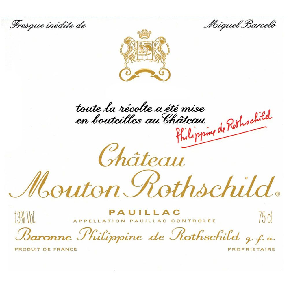 Chateau Mouton Rothschild  2014 Front Label
