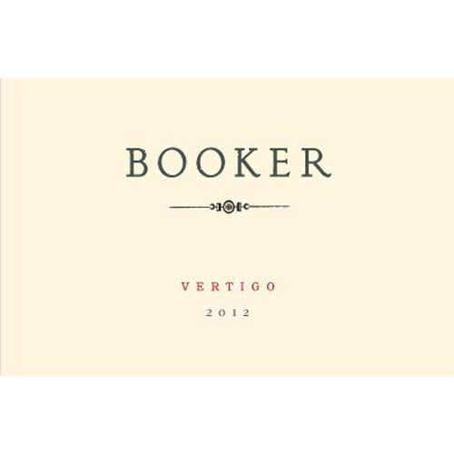 Booker Vineyard Vertigo 2012 Front Label