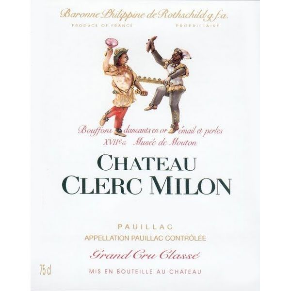 Chateau Clerc Milon  2014 Front Label