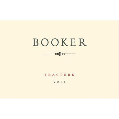 Booker Vineyard Fracture Syrah 2011 Front Label