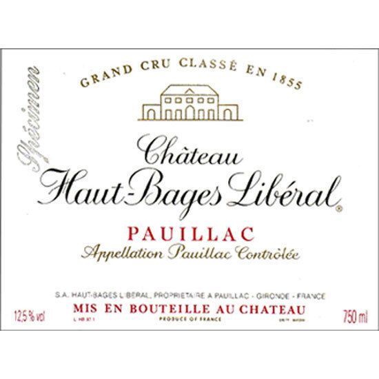 Chateau Haut-Bages Liberal  2014 Front Label