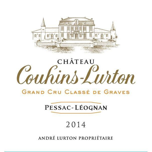 Chateau Couhins-Lurton Blanc 2014 Front Label