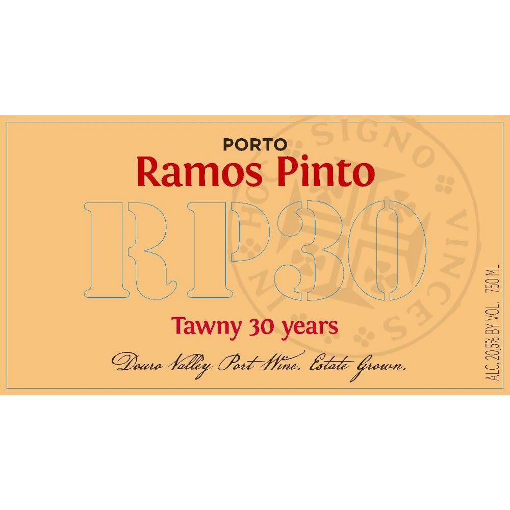 Ramos Pinto 30 Year Tawny Front Label