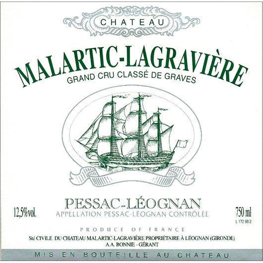Chateau Malartic-Lagraviere Blanc 2014 Front Label