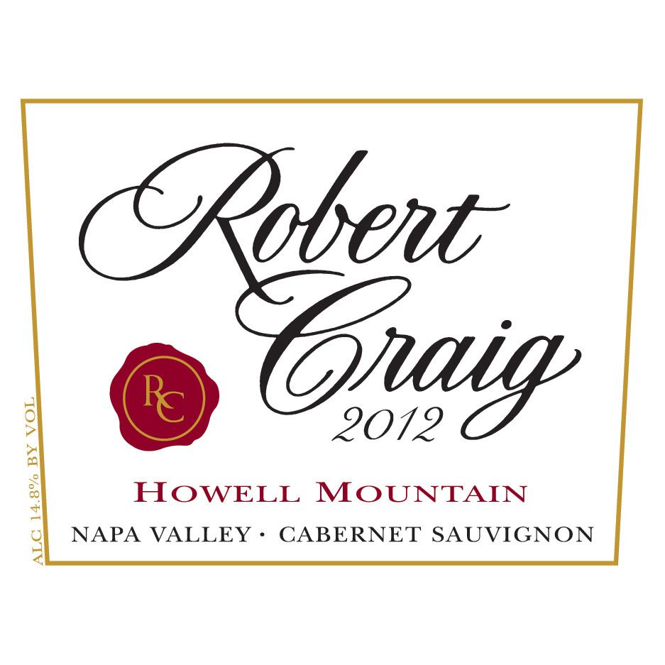 Robert Craig Cellars Howell Mountain Cabernet Sauvignon 2012 Front Label