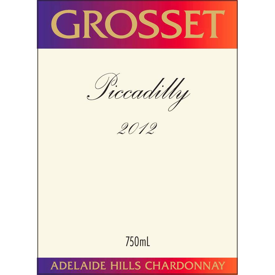 Grosset Piccadilly Chardonnay 2012 Front Label