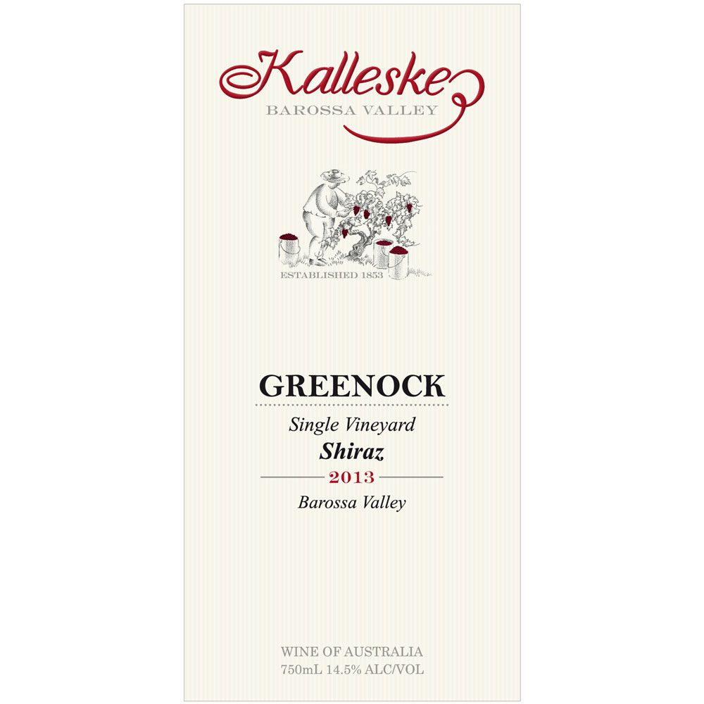 Kalleske Greenock Shiraz 2013 Front Label