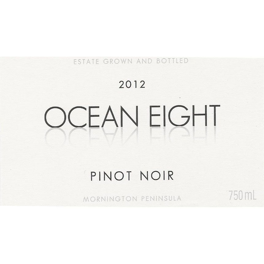 Ocean Eight Pinot Noir 2012 Front Label