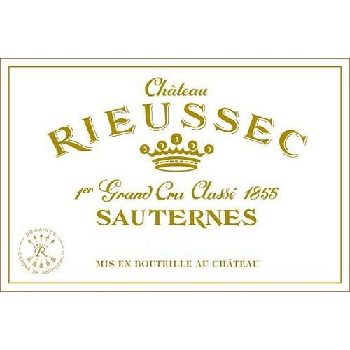 Chateau Rieussec Sauternes (375ML half-bottle) 2014 Front Label