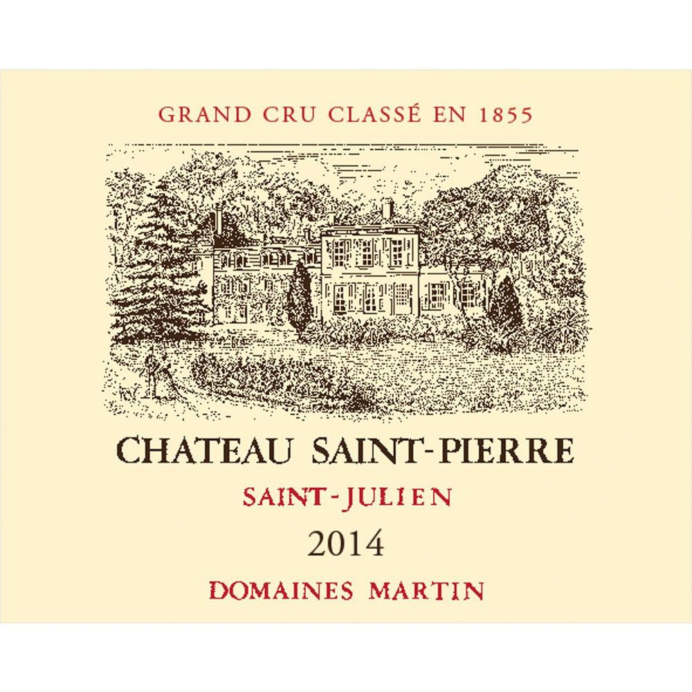 Chateau Saint-Pierre (Futures Pre-Sale) 2014 Front Label