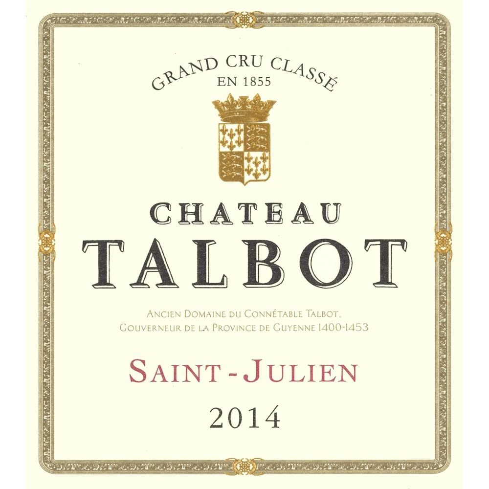 Chateau Talbot  2014 Front Label