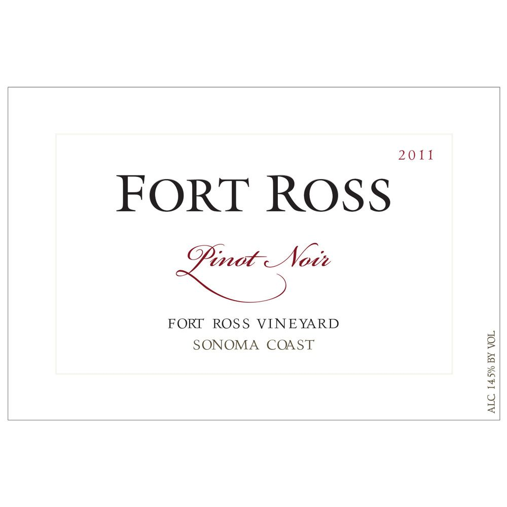 Fort Ross Vineyard Sonoma Coast Pinot Noir 2011 Front Label