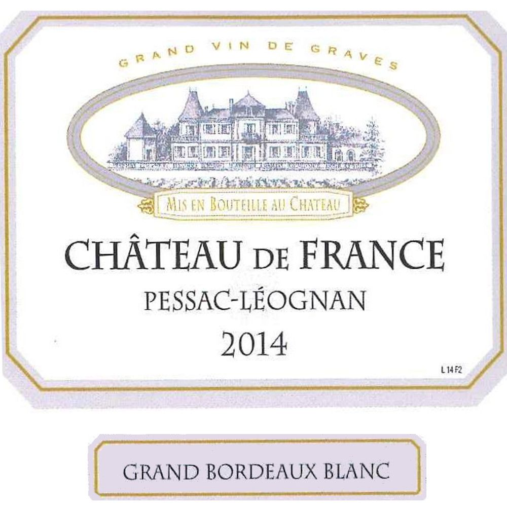 Chateau de France Blanc 2014 Front Label