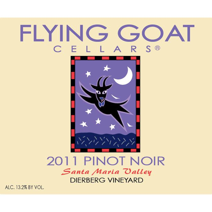 Flying Goat Cellars Dierberg Vineyard Pinot Noir 2011 Front Label