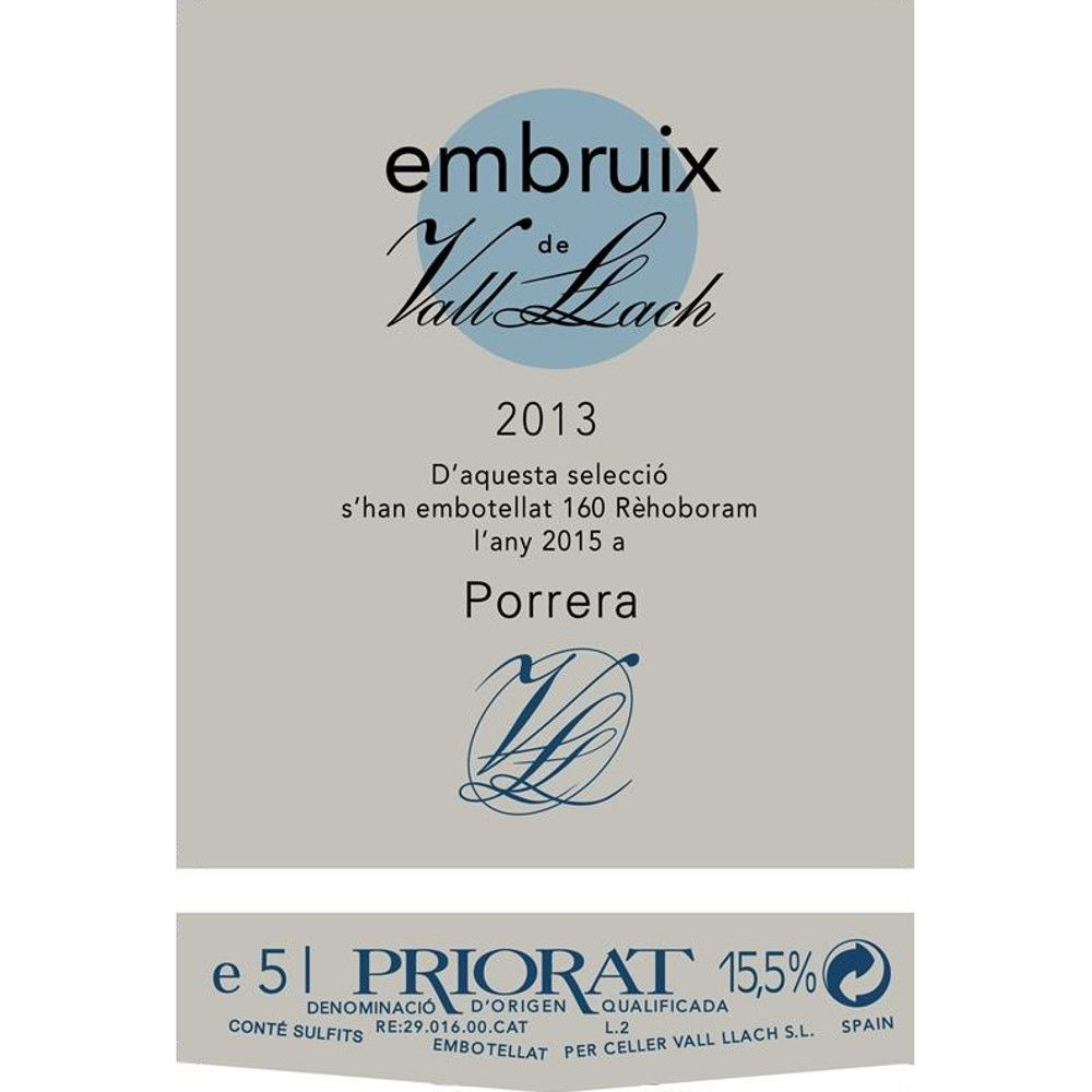 Vall Llach Embruix 2013 Front Label
