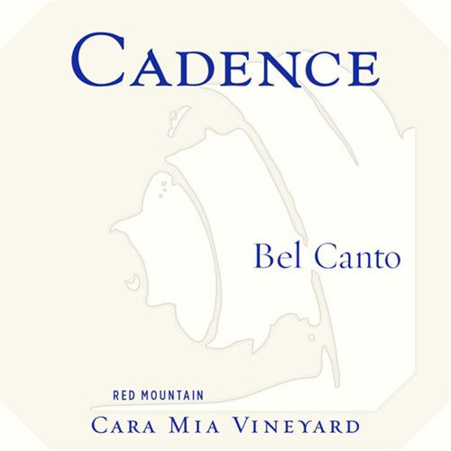 Cadence Cara Maria Vineyard Bel Canto (375ML half-bottle) 2010 Front Label