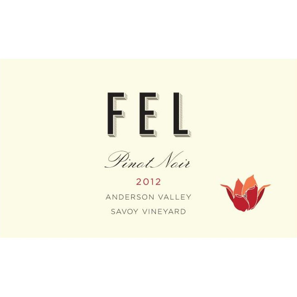 FEL Savoy Vineyard Pinot Noir 2012 Front Label