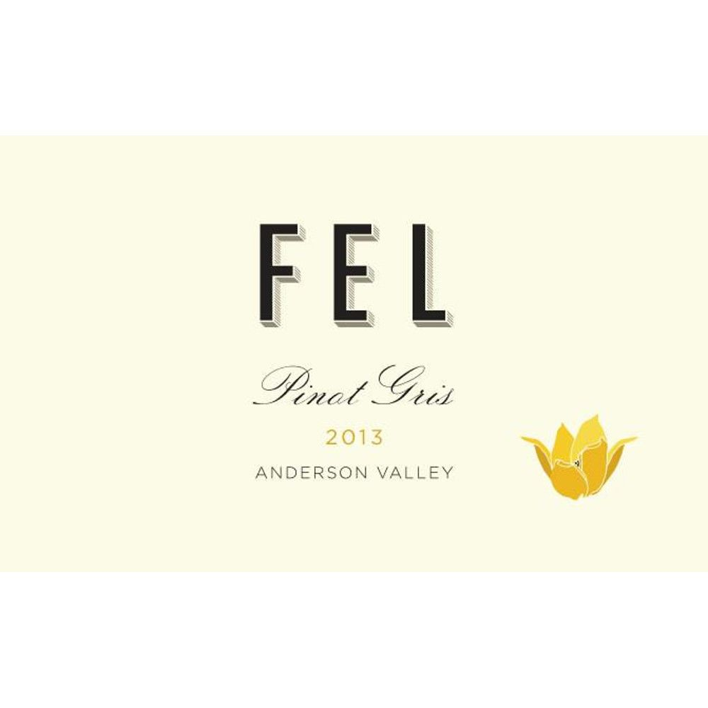 FEL Anderson Valley Pinot Gris 2013 Front Label