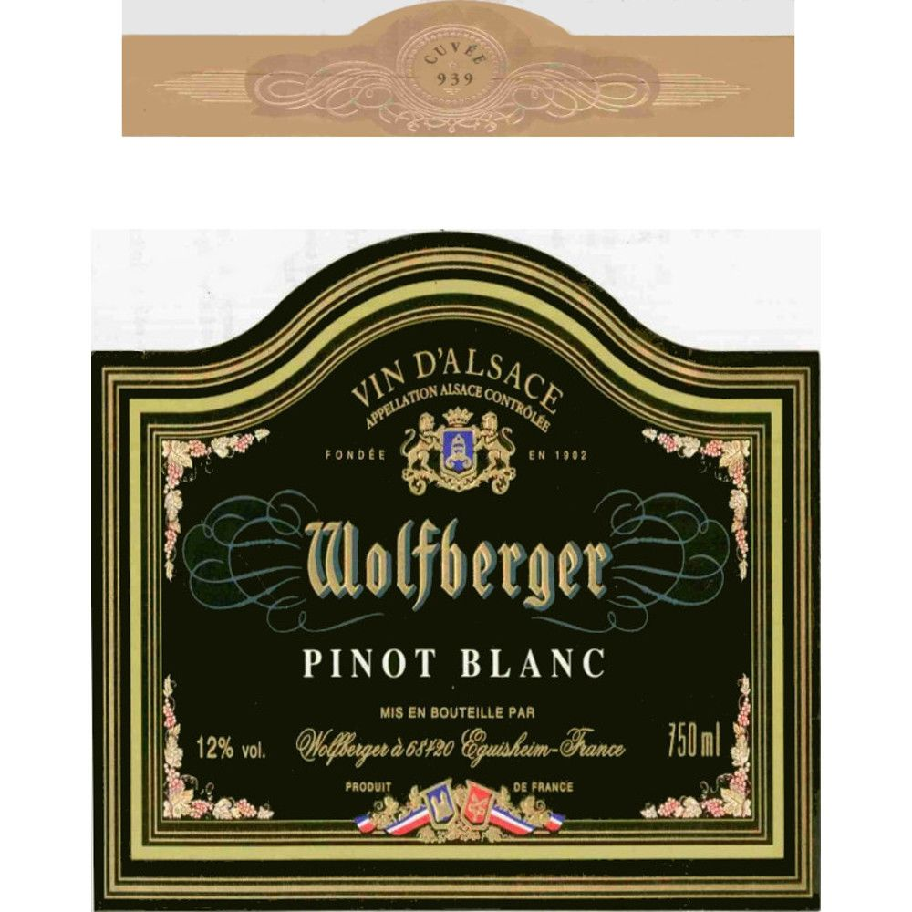 Wolfberger Pinot Blanc 2013 Front Label