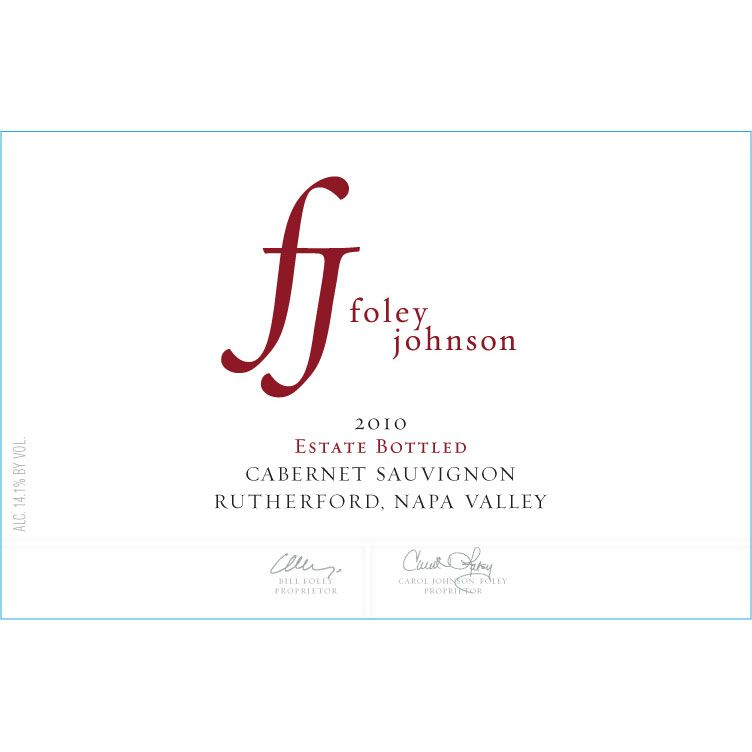 Foley Johnson Estate Rutherford Cabernet Sauvignon 2010 Front Label