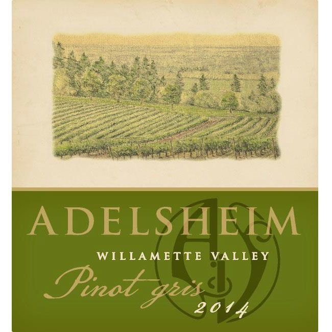 Adelsheim Pinot Gris (375ML half-bottle) 2014 Front Label
