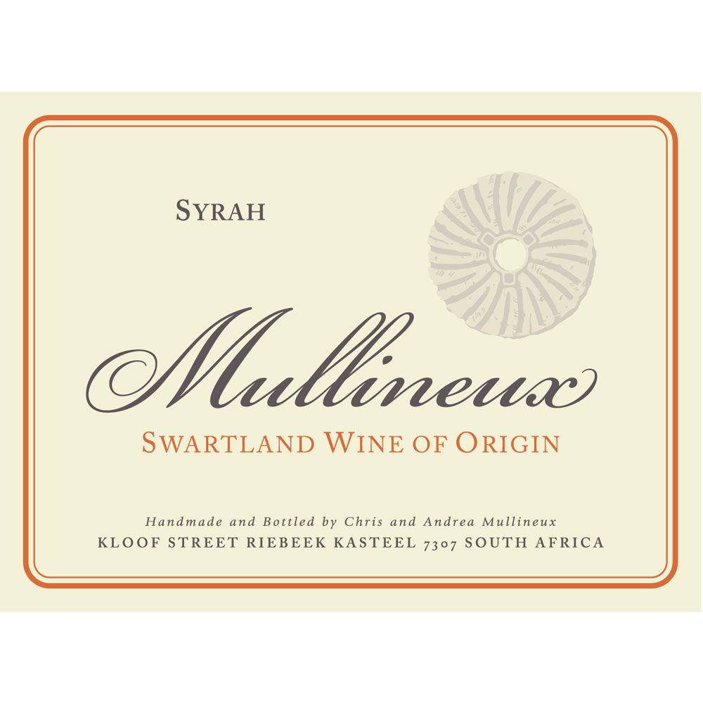 Mullineux Family Wines Syrah 2012 Front Label