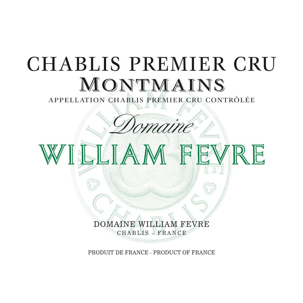 William Fevre Chablis Montmains Premier Cru (375ML half-bottle) 2012 Front Label