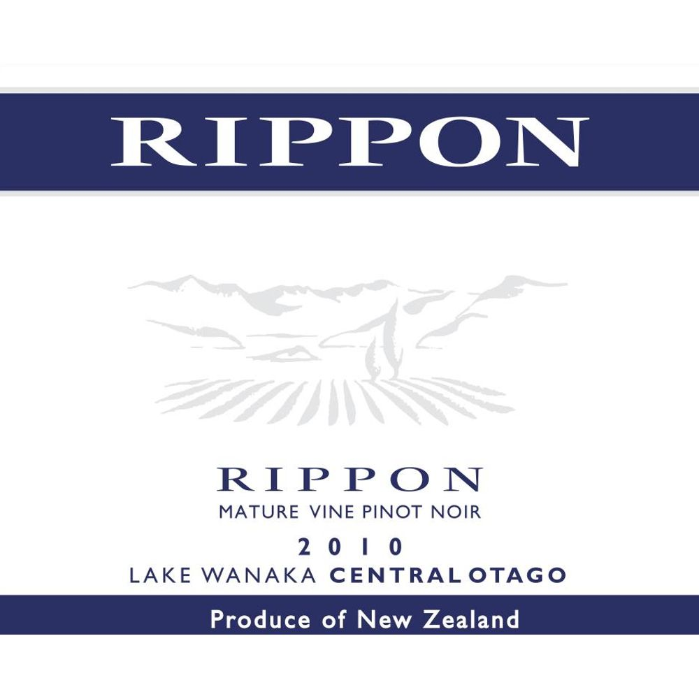 Rippon Vineyard Mature Vine Pinot Noir 2010 Front Label