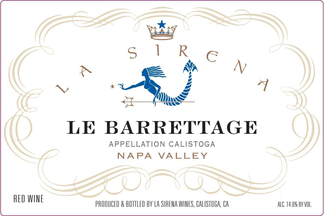 La Sirena Le Barrettage 2009 Front Label