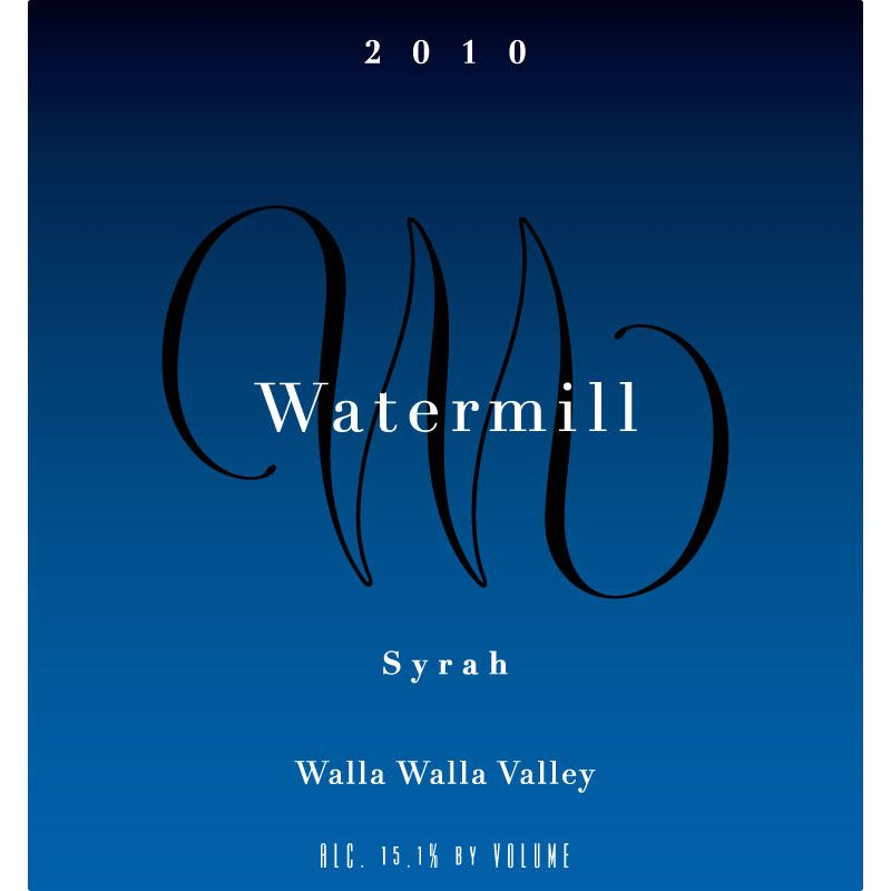 Watermill Walla Walla Valley Syrah 2010 Front Label