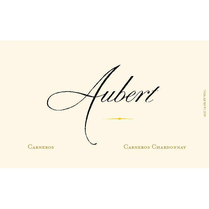 Aubert Carneros Vineyard Chardonnay 2013 Front Label