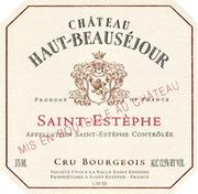 Chateau Haut-Beausejour Saint-Estephe (half-bottle) 1997 Front Label