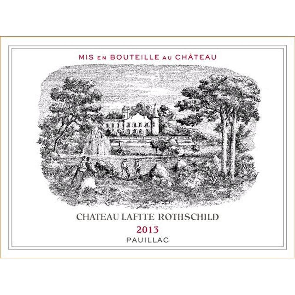 Chateau Lafite Rothschild  2013 Front Label